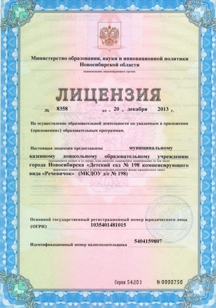 Лицензионные документы на образовательную деятельность